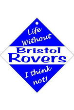 Bristol Rovers Car/window signs / Personalised signs / slap-on magnets