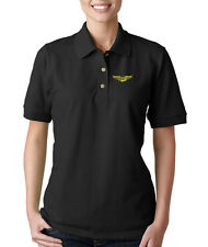 MILITARY NAVIGATOR SYMBOL MILITARY Embroidery Embroidered Lady Woman Polo Shirt