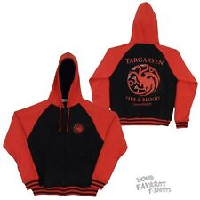 Game Of Thrones Targaryen Symbol Fire And Blood HBO Licensed Zip Up Hoodie S-XXL
