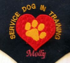 Service Dog In Training heart and paw Personalized Dog Bandana