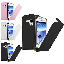 Flip Genuine Real Leather Case Cover For Samsung Galaxy S Duos S7562/Trend S7560