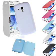 Slim Leather Magnetic Hard Case Cover For Samsung Galaxy Duos S7562 /Trend S7560