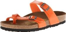 Birkenstock Womens Shoe Leather Sandal Slide Mule Mayari Flame Orange