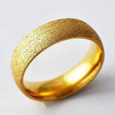 Sandy Yellow Gold Filled Womens/Mens band Ring SZ 7,8,9,10,11 A2048 -A2052