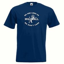 NEW Millwall FC Nobody Likes Us Dundee Blue Navy Football T-Shirt - All Sizes