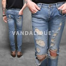 SL Destroyed Denim Skinny Jeans Kanye A$AP FABRIXQUARE j159 #5