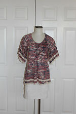 Ella Moss Peasant Kissimmee Top Blouse Size Small Purple  NW ANTHROPOLOGIE Tag