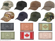 Military Low Profile Adjustable Tactical Operator Cap With Canada Flag Patch