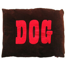 Creature Clothes-Dog Doza Bed-Red 'Dog'/Chocolate-Made in Uk-Med or Large Avail
