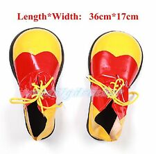Halloween Party Clown Cosplay Costume Shoes Covers Adult Yellow/Red/Blue 36*17cm