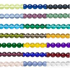8 Round 8mm Czech Glass Druk Beads In Many Transparent Colors