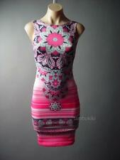 Henna Tattoo Art Print Low Scoop Back Party Pencil Sheath Mini 87 df Dress L