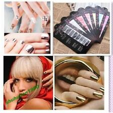 16 Pcs 8 Colors Nail Art DIY Decoration Nail Sticker Patch Foils Wraps Nail Deco