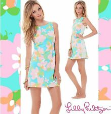 $178 Lilly Pulitzer Delia Shorely Blue Mojo Lace Side Detail Shift Dress