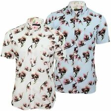 French Connection/ FCUK Floral Hawaiian Shirt Magnolia Field