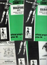 Notts County HOME programmes 1960s FREE P&P UK Choose from list