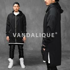 """XQUARE 23 Unbalance Back Extended Drop Golden Zip Jersey Hoodie 36"""" A$AP h115 #5"""