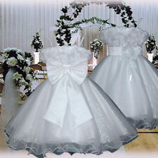 USM3D70 White Christmas Formal Communion Bridesmaid Girls Dress Ages 1 to 14