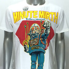 m252w Minute Mirth T-shirt Tattoo Skull Tin Toy Robot Space Casual Men Gangster