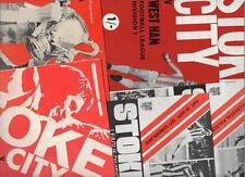 Stoke City HOME programmes 1970s FREE P&P UK Choose from list
