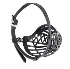 NEW Ultra Dog No Bite Muzzle Comfortable Soft Plastic Mesh Basket Black