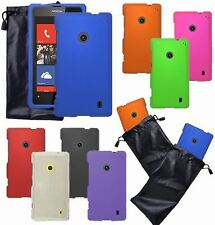 For Nokia Lumia Phone Cover Hard Shell Case + Leather Protection Pouch Accessory