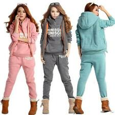Women Sports Hoodies Outwear Suit Tracksuit Casual Autumn Winter Coat+Vest+Pants