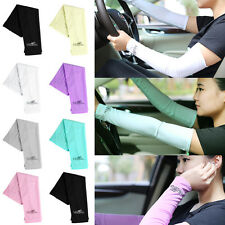 Outdoor Sport Golf Cycle Bike Cover Cooling Stretch Sun UV Protection Arm Sleeve
