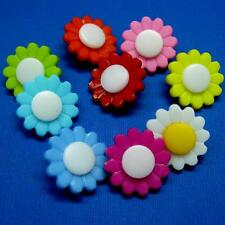 10 Sewing Buttons Craft 20mm Plastic Sunflower Craft Round Daisy Flower Diy Cute