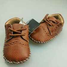 0-12M Baby Girls Boy PU Leather Crib Shoes Kids Soft Sole Loafers Toddler Shoes