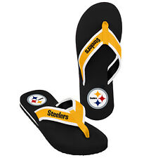 Pittsburgh Steelers NFL Football Mens Team Color Contour Flip Flops Sandals New