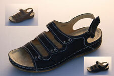 Ladies Sandals Wild Sole Astrid Black or Brown Size 6-10 Velcro Sling Back Shoes