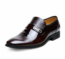 Dress Formal Mens Casual Low Slip On Loafers Pointed Toe Low Heel Wedding Shoes