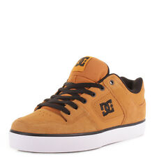 MENS DC PURE WHEAT SKATE SURF CHUNKY TAN CLASSIC CASUAL TRAINERS SHOES SIZE