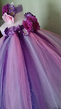 Tutu dress flower girl dress  wedding party birthday girl dress 1T2T3T4T5T6,7,8