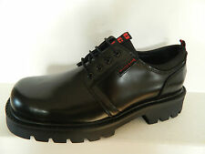 Dockers Men's Low Shoes, Lace Up Shoes, Black Classic Thickness Sole