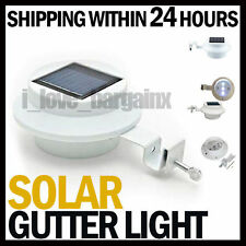 LED Solar Clip-on Power Fence Gutter Outdoor Garden Yard Pathway Lamp Lights
