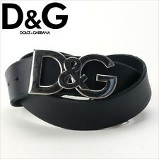 Nwt D&G DOLCE & GABBANA Mens Black Leather Logo Classic Belt $345!
