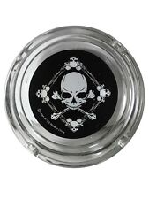 New Skull in Barbed Wire Ashtray