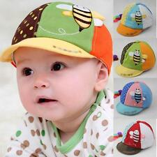 Baby Cartoon Bee Printing Hat Cap Cotton Baby Care Sun Head Hat Assorted Colors