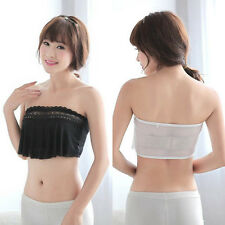 Stylish Womens Lace Strapless Chest Wrap Tube Top Bandeau Bra Underwear Crop Top