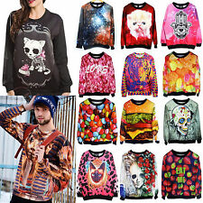Men Women Space Galaxy T shirt sweater Sweatshirt hoodie Pullover Tops Tracksuit
