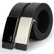 New Mens Automatic Buckle Leather Formal Waist Strap Belts Buckle Belt Fashion