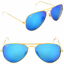 Ray-Ban RB 3025 112/17 Metal Aviator Gold / Blue Mirror Sunglasses 55 or 58mm