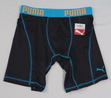 Puma Sport Signature Black & Blue Boxer Brief Underwear Mens NWT
