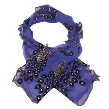 In 6 Styles Women' Fashionable Long Soft Peacock Scarf Wrap Shawl Stole SJ1379