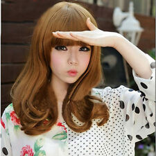 Fashion Women's Half Long Curl Synthetic Hair Full Wigs Clip In On New Cute NA33