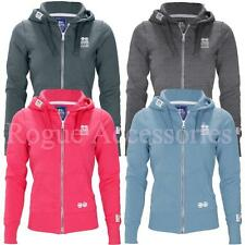 Crosshatch Full Zip Fleece Ladies Hooded Top Hoody Womens Size  Womens