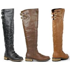 Qupid Relax-01X Buckle Knee High Riding Boot