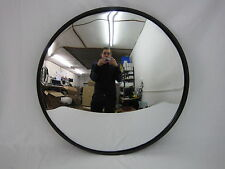"600mm 60cm 24"" Black Internal Convex Traffic Mirror Security Road Warehouse Shop"